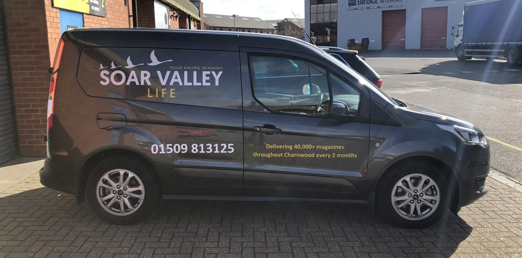 branded printed wrap on van ozwraps