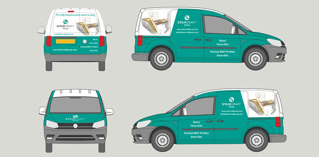 ozwraps blueprint on van