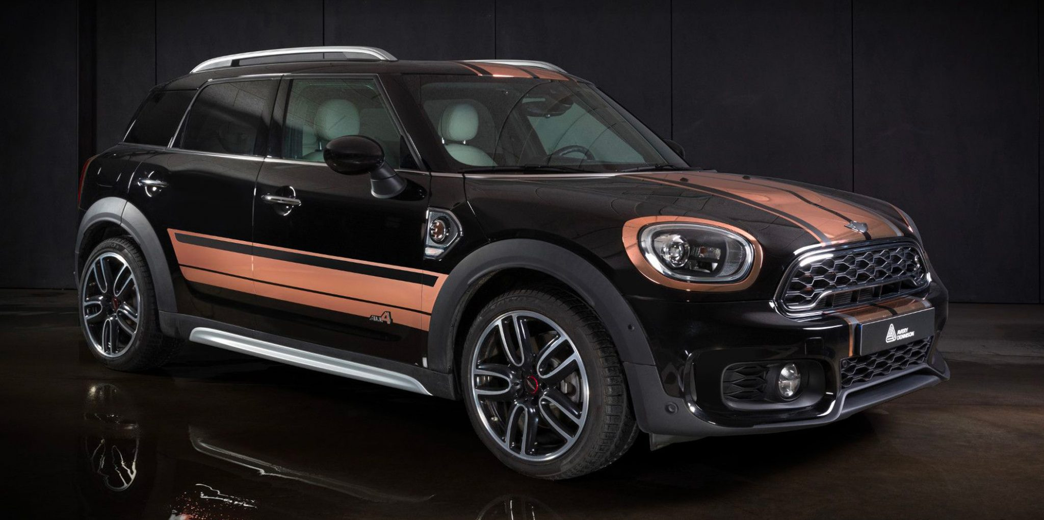 black brown mini cooper