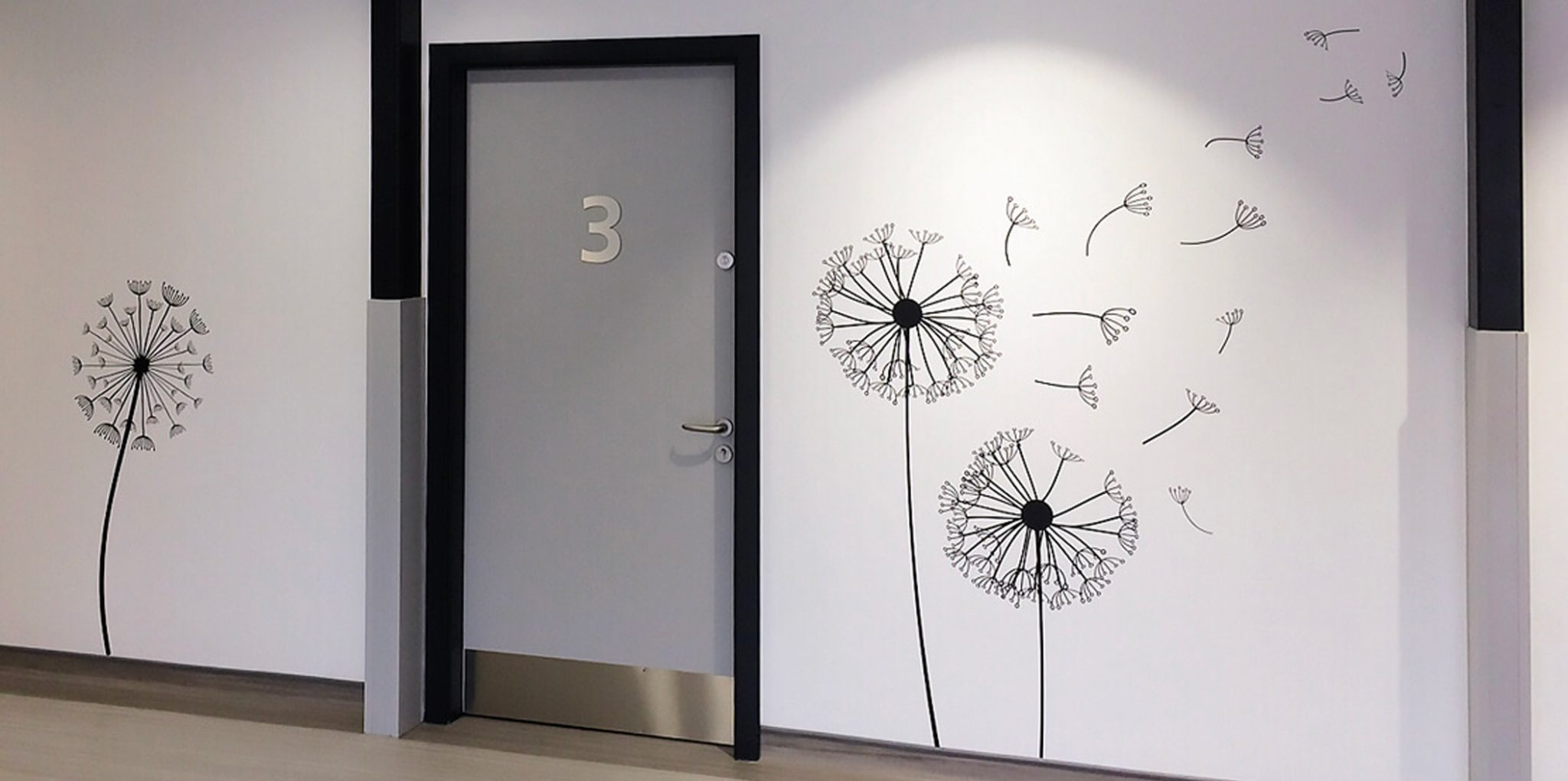 wall design with dandelion sticker