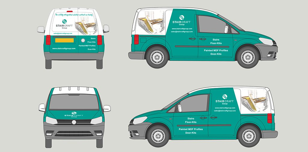 branded printed wrap on van blueprint ozwraps