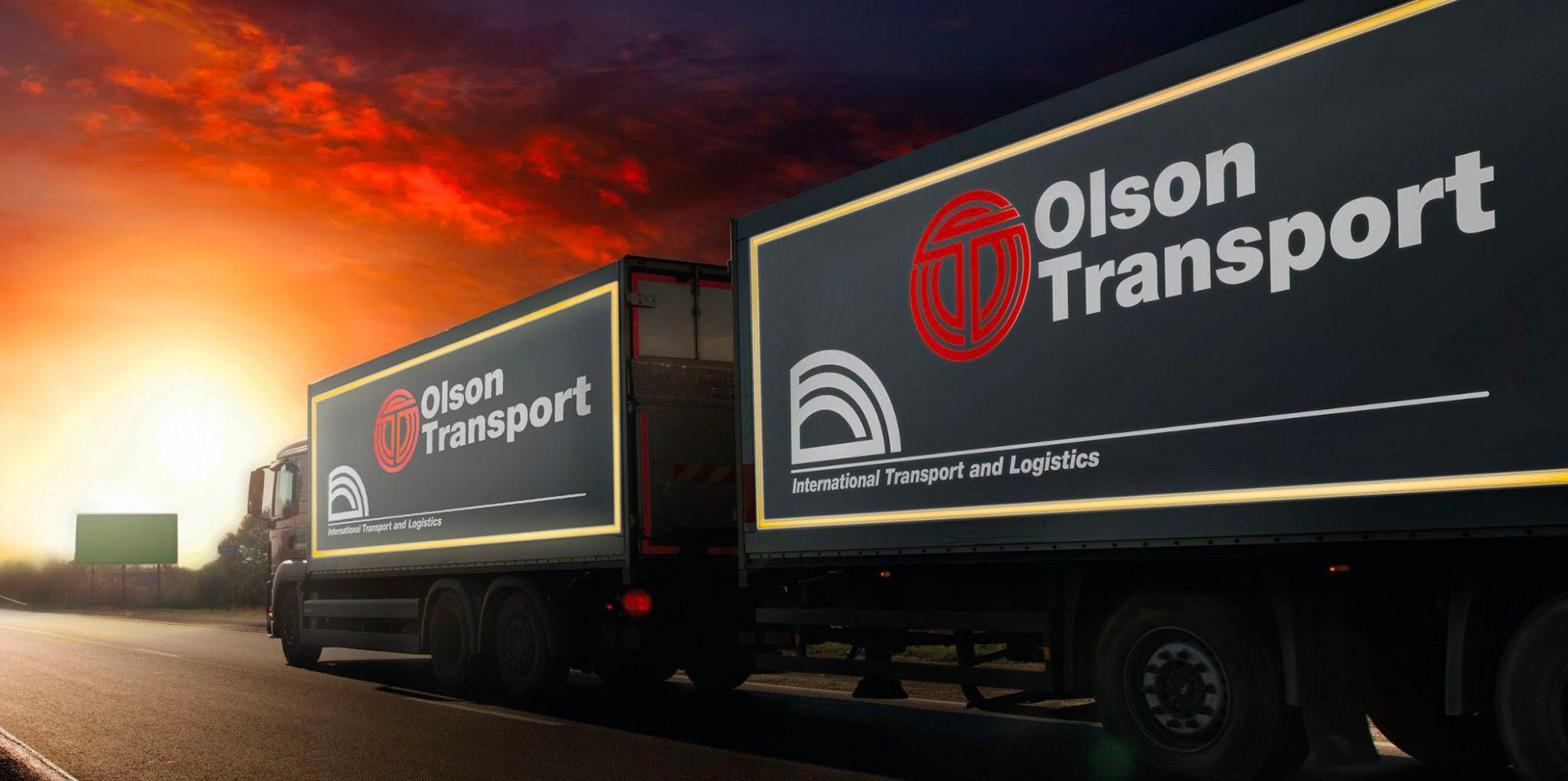 semi trailer truck od olson transport