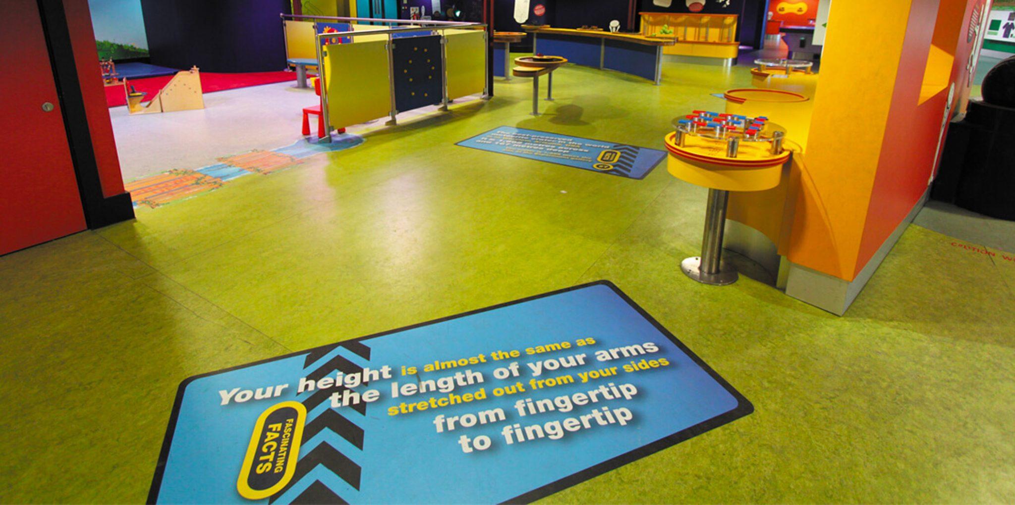 semi showroom with floor design